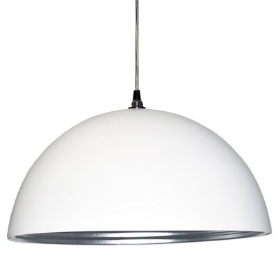 Helsinki 1-Light Bowl Pendant Shade Color: Matte White