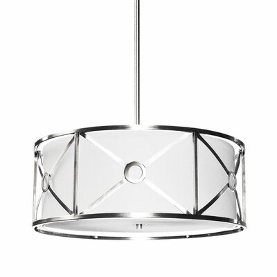Cruz 3-Light Drum Pendant Finish: Polished Chrome