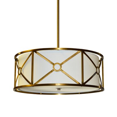 Cruz 3-Light Drum Pendant Finish: Vintage  Bronze