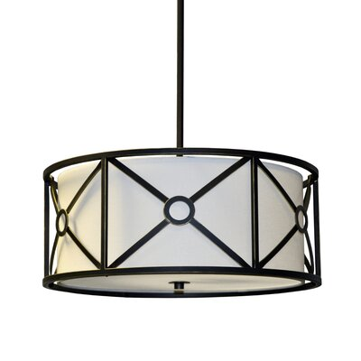 Cruz 3-Light Drum Pendant Finish: Vintage Oiled Bronze