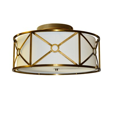 Cruz 3-Light Semi-Flush Mount Finish: Vintage  Bronze