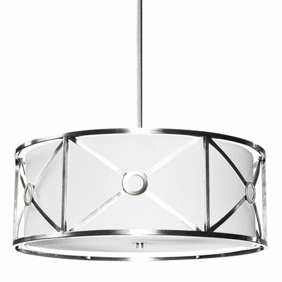 Cruz 4-Light Drum Pendant Finish: Polished Chrome