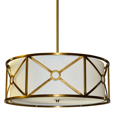 Cruz 4-Light Drum Pendant Finish: Vintage  Bronze