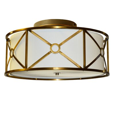 Cruz 4-Light Semi-Flush Mount Finish: Vintage  Bronze