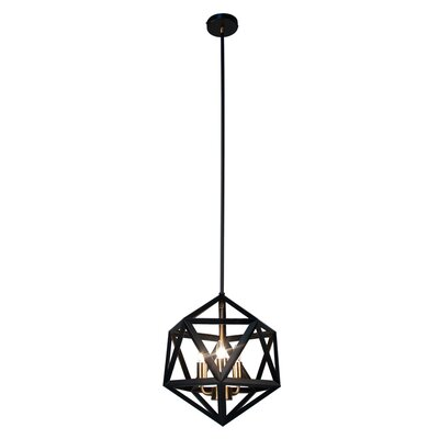 Archello 3-Light Foyer Pendant Finish: Matte Black / Antique Brass