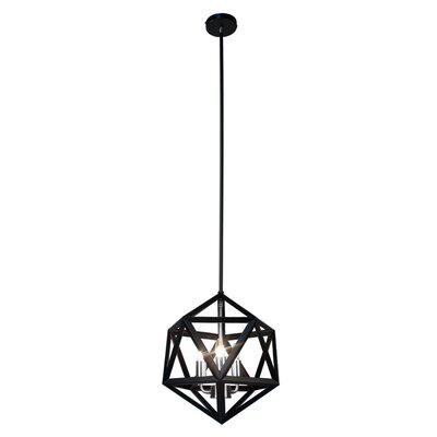 Archello 3-Light Foyer Pendant Finish: Matte Black / Chrome