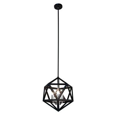 Archello 3-Light Foyer Pendant Finish: Matte Black / Chrome