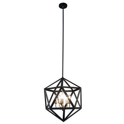 Archello 5-Light Foyer Pendant Finish: Matte Black / Antique Brass