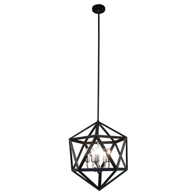Archello 5-Light Foyer Pendant Finish: Matte Black / Chrome