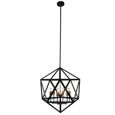 Archello 6-Light Foyer Pendant Finish: Matte Black / Antique Brass