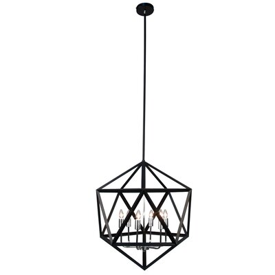 Archello 6-Light Foyer Pendant Finish: Matte Black / Chrome