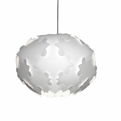 Corvi 1-Light White Globe Pendant