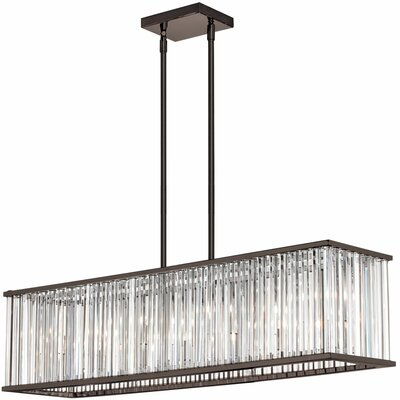 Aruba 7-Light Kitchen Island Pendant Finish: Brushed Bronze