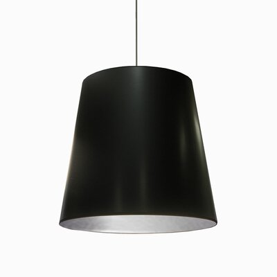 Batalla 1-Light Geometric Pendant Shade Color: Black on Silver, Size: 21 H x 26 W x 26 D