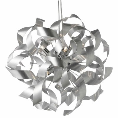 Partizon 9-Light Mini Pendant Finish: Silver