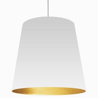 Batalla 1-Light Geometric Pendant Shade Color: White on Gold, Size: 26 H x 32 W x 32 D