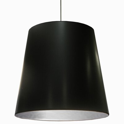 Batalla 1-Light Geometric Pendant Shade Color: Black on Silver, Size: 26 H x 32 W x 32 D