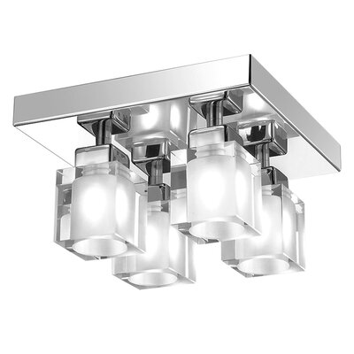 New Era 4-Light Semi-Flush Mount