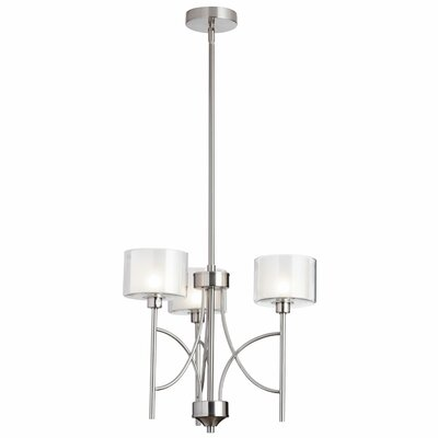 Delano 3-Light Shaded Chandelier