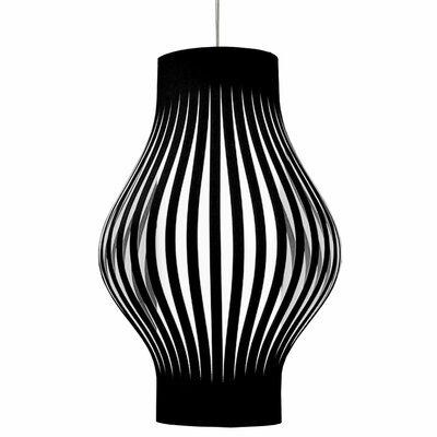 Toro 6-Light Geometric Pendant Shade Color: Black