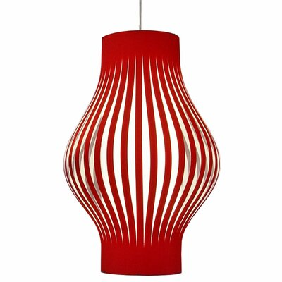 Toro 6-Light Geometric Pendant Shade Color: Red