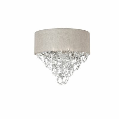 Cristallo 4-Light Flush Mount Shade Color: Cream