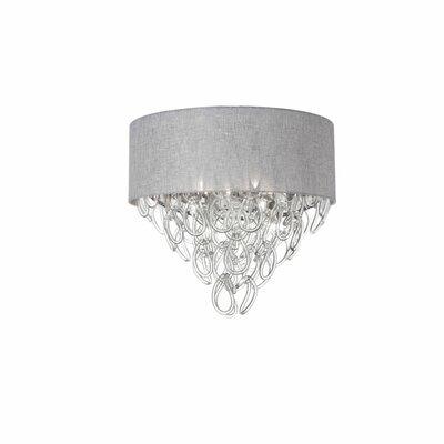 Cristallo 4-Light Flush Mount Shade Color: Grey