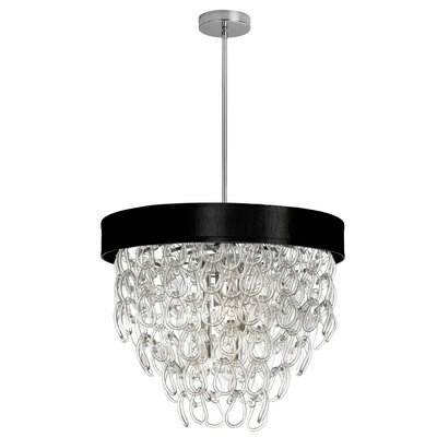 Cristallo 6-Light Crystal Chandelier Shade Color: Black