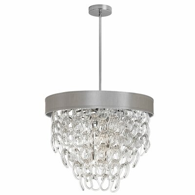 Cristallo 6-Light Crystal Chandelier Shade Color: Beige