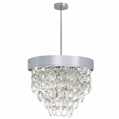 Cristallo 6-Light Crystal Chandelier Shade Color: Silver