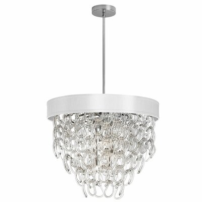 Cristallo 6-Light Crystal Chandelier Shade Color: White