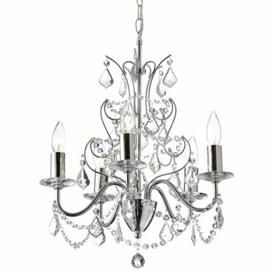 Vanessa 5-Light Crystal Chandelier