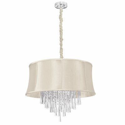 Silk Glow 8-Light Drum Chandelier