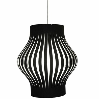 Toro 4-Light Geometric Pendant Shade Color: Black