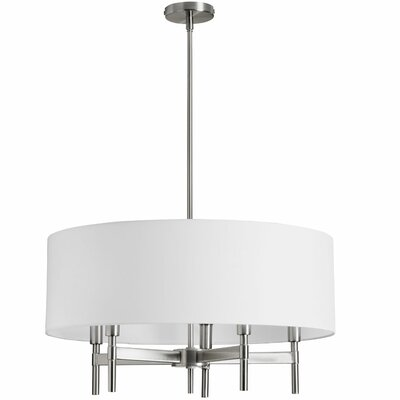 Larkin 5-Light Drum Chandelier Finish: Satin Chrome