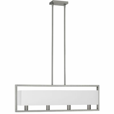 Larkin 4-Light Kitchen Island Pendant Finish: Satin Chrome