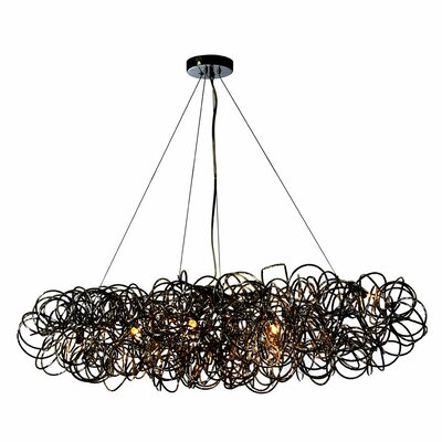 Baya 8-Light Kitchen Island Pendant Finish: Black