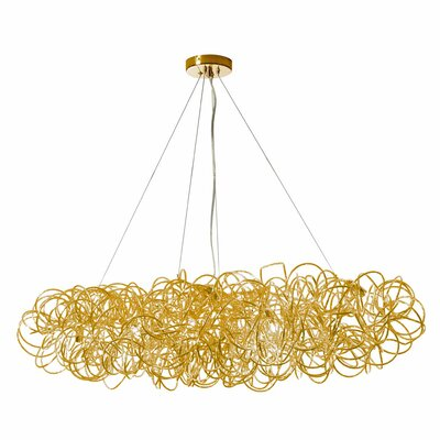 Baya 8-Light Kitchen Island Pendant Finish: Gold