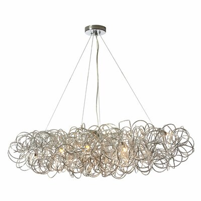 Baya 8-Light Kitchen Island Pendant Finish: Polished Chrome