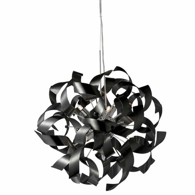 Partizon 7-Light Geometric Pendant Shade Color: Black