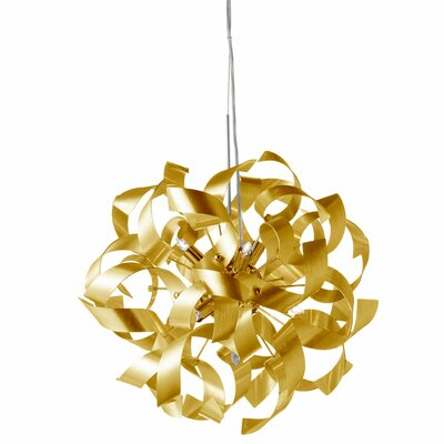 Partizon 7-Light Geometric Pendant Shade Color: Gold