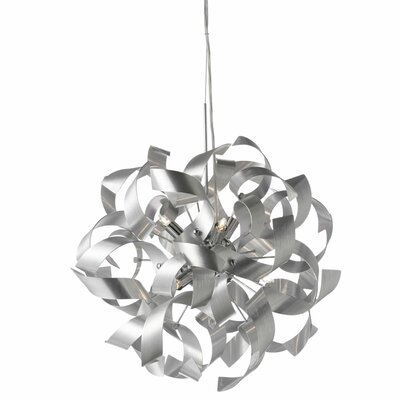 Partizon 7-Light Geometric Pendant Shade Color: Silver