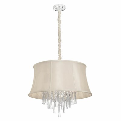 Julia 6-Light Drum Pendant Shade Color: Cream