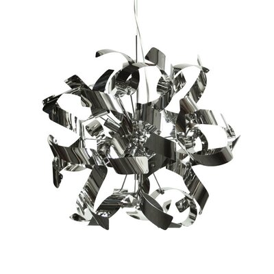 Partizon 7-Light Geometric Pendant Shade Color: Polished Chrome