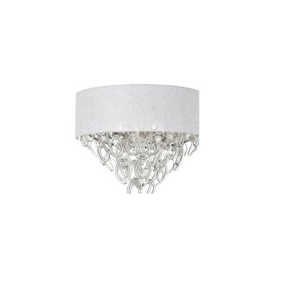 Cristallo 4-Light Flush Mount Shade Color: White