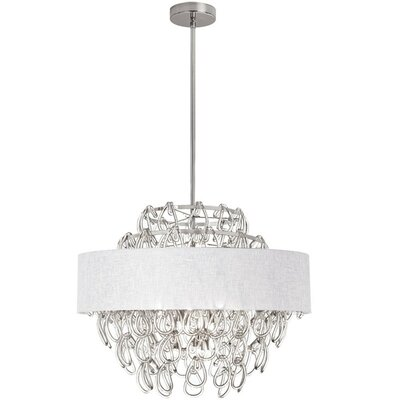 Cristallo 12-Light Drum Pendant Shade Color: White