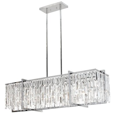 Alero 9-Light Kitchen Island Pendant Finish: Polished Chrome