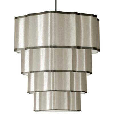 Atrow 16-Light Drum Pendant Shade Color: Pebble