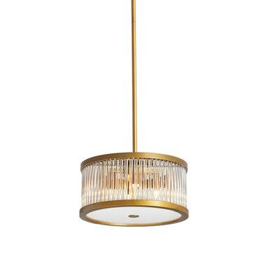 Greffen 4-Light Drum Pendant Finish: Vintage Bronze