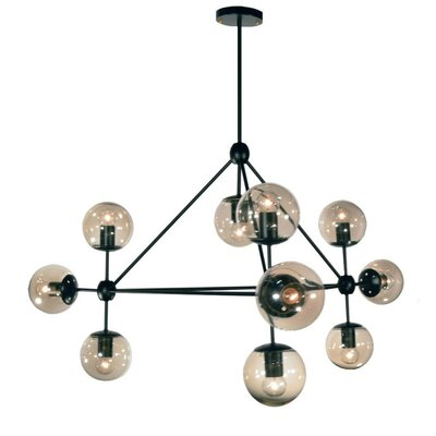 Dmarko 10-Light Geometric Pendant